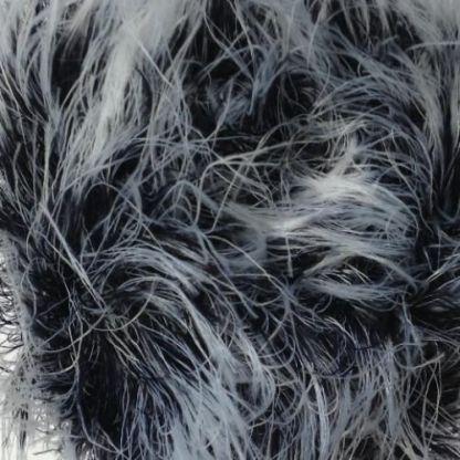 James C Brett Faux Fur H1 Black and White