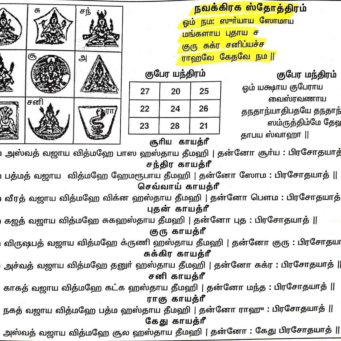நவகிரக ஸ் தோத்திரம்
