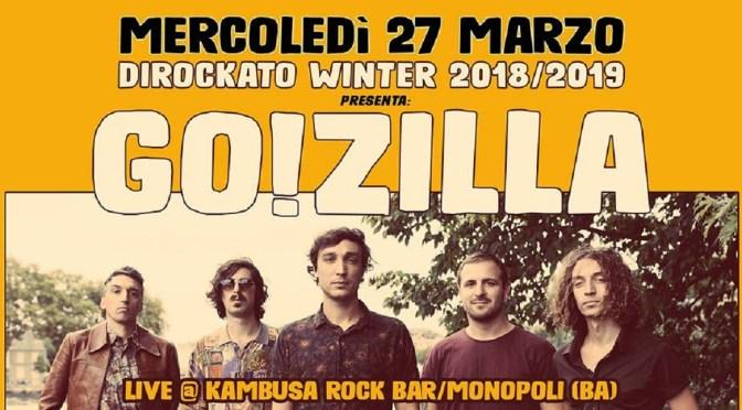 Go!Zilla live per il Dirockato Winter 2018/2019 al Kambusa Rock Bar