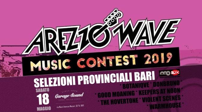 Arezzo Wave Music Contest 2019: Sabato 18 maggio le selezioni provinciali Bari al Garage Sound