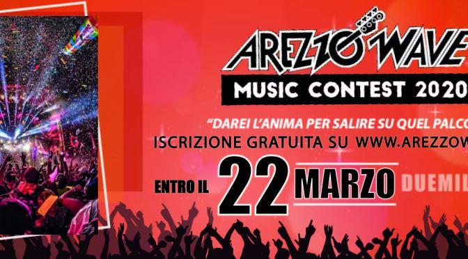AREZZO WAVE BAND 2020 Il tuo pass per l'Italia, l'Europa, il mondo Iscrizione gratuita online, aperto a tutti i generi musicali