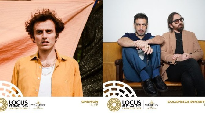 Ghemon e Colapesce Dimartino: altri due live italiani in esclusiva pugliese per il Locus festival 2020 Limited Edition, ad agosto a Locorotondo