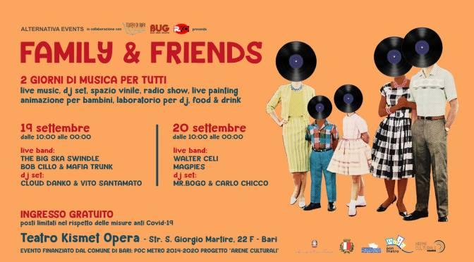 Family & Friends. Sabato e domenica vinili e live animano il Teatro Kismet