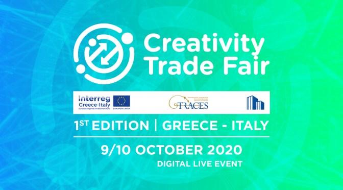Venerdì 9 ottobre – il sottosegretario allo sviluppo economico Gian Paolo Manzella inaugura Creativity Trade Fair, prima fiera online dedicata alla cultura e alla creatività