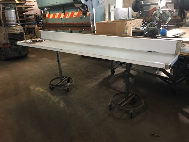 Stainless Steel Butcher Block Table