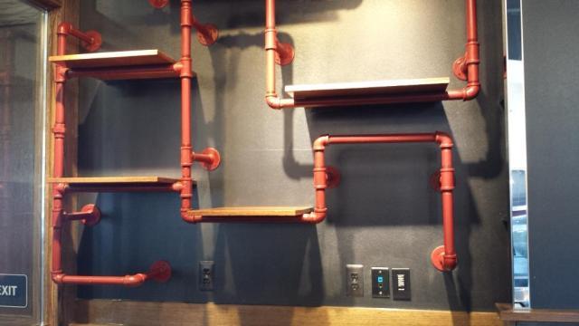 Steel Pipe Merchandise Display