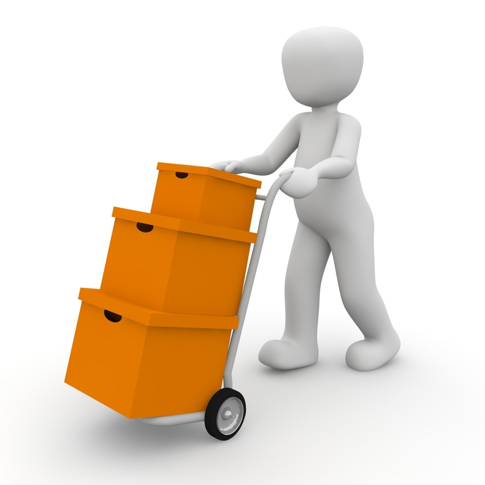 packages, transport, delivery person