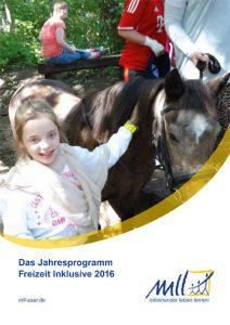 Cover Das Jahresprogramm Freizeit Inklusive 2016