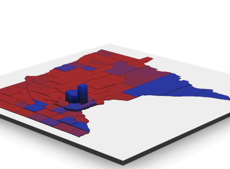 Rendered Visualization of MN Election Results in 2018 for Governor