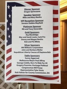 Sponsorship List