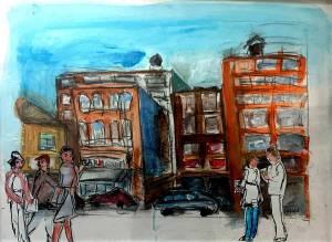 "Chicago Street Scene 18"" X 24"""