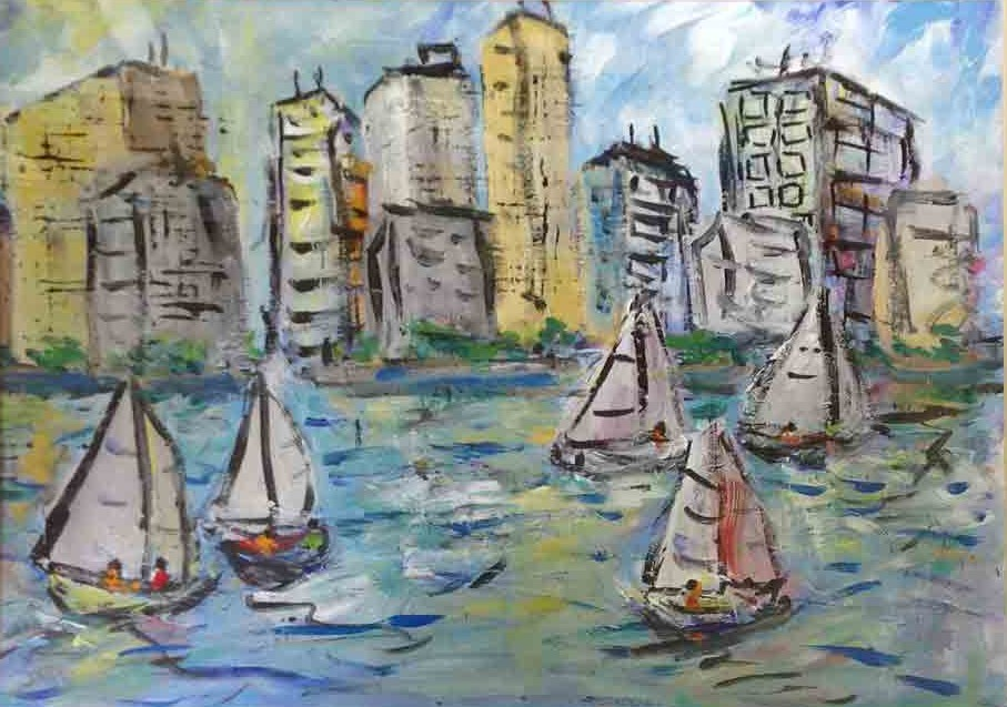 Sailboats and City