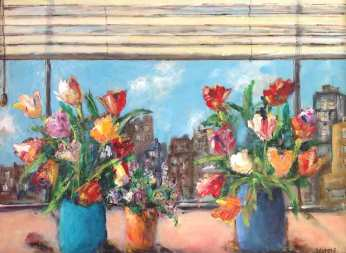 Flowers with City