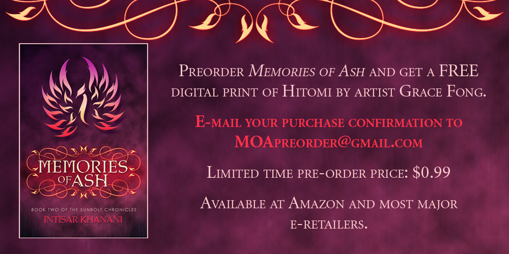 Memories of Ash by Intisar Khanani – COVER REVEAL!!! (+ Release Date, Preorder Info, and More!)