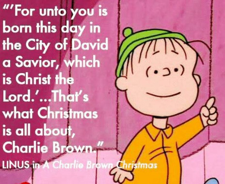 Linus Reciting Luke 2 in A Charlie Brown Christmas