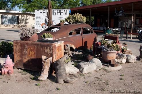 Un commerce flyé dans le village de Leaky