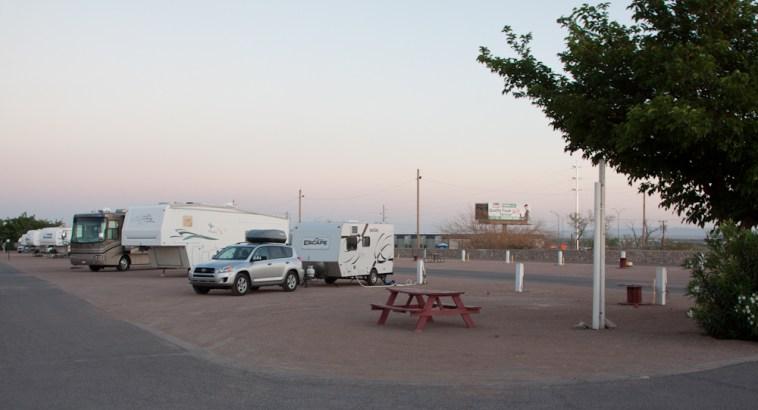 Mon camping à El Paso ... pas envie de m'éterniser ici.