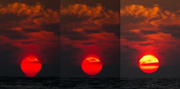 Lever de soleil sur le golf du Mexique - 6h43