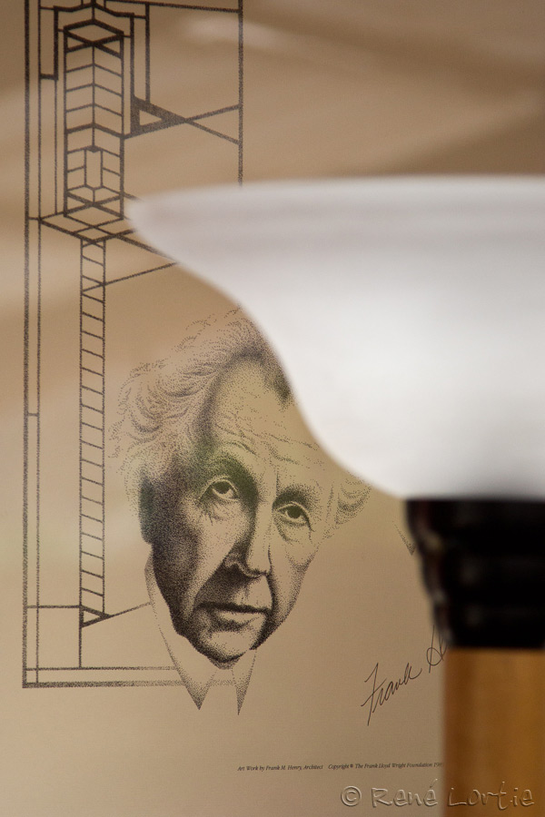 Portrait de Frank Lloyd Wright