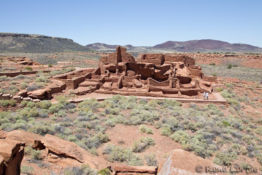 La plus imposante construction se trouve à Wupatki et comptait plusieurs pièces d'habitation