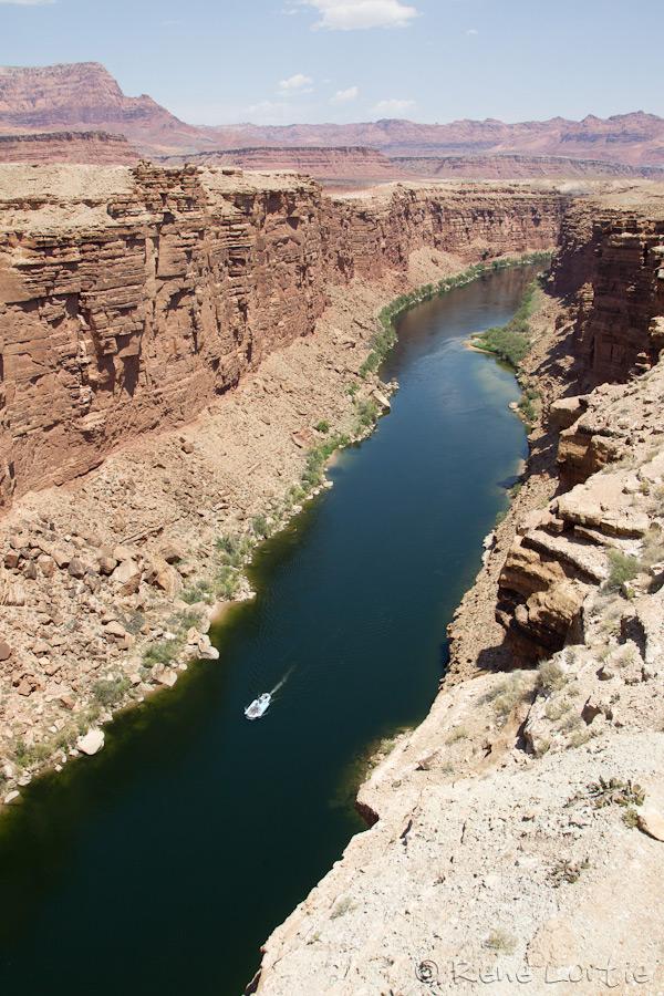 Le Colorado vu du pont Navajo sur la 89A