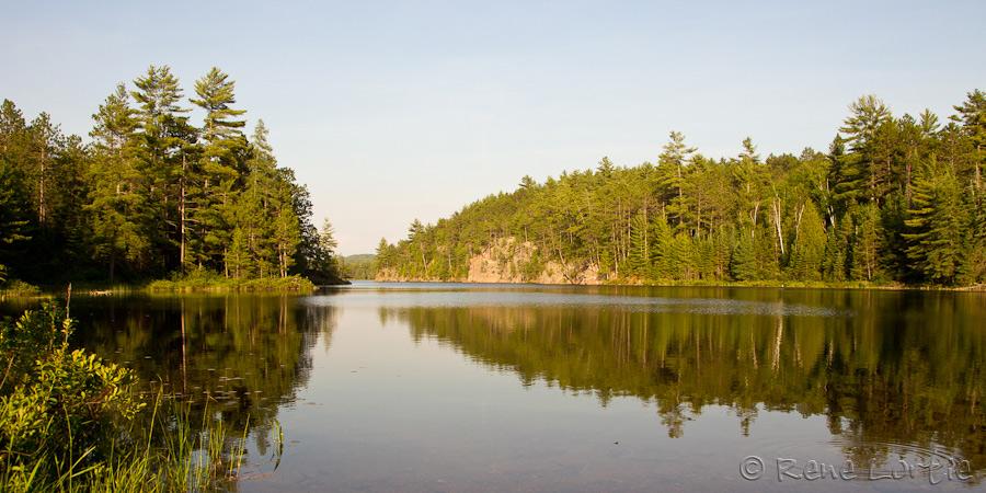 Lac au parc Samuel de Champlain
