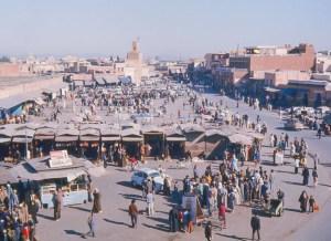 La place Jemaa el fna de Marrakech