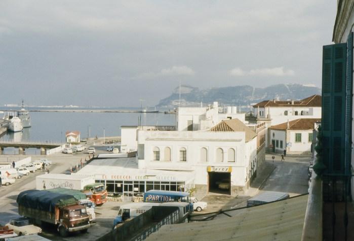 Vue du port d'Algeciras à partir de notre chambre.