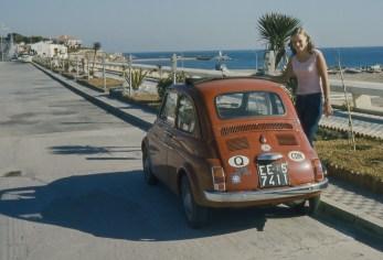 Claire et la Fiat à Benalmadena