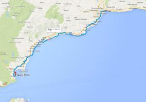 Route de Malaga à Algeciras, Espagne