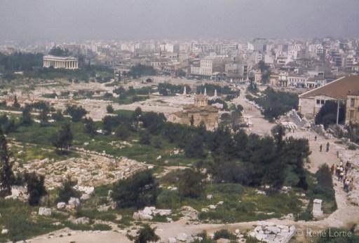 Athènes vue de l'Acropole