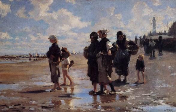 Les ramasseuses d'huîtres par John Singer Sargent - 1877 (Cancale)