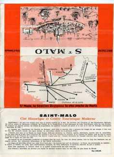 Dépliant sur la ville de Saint-Malo
