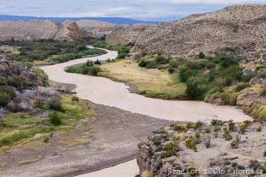 Vue du Rio Grande - À partir du sentier Hot Springs Canyon - secteur Rio Grande