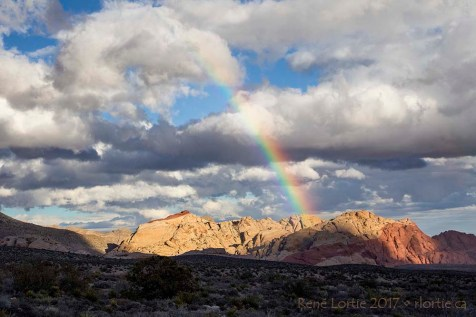 L'arc-en-ciel de Red Rock Canyon