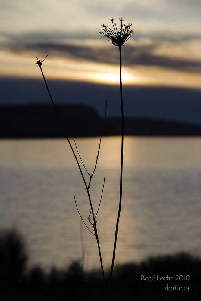 Coucher de soleil à Port Hawkesbury, Nouvelle-Écosse