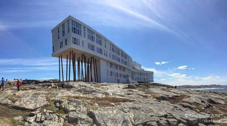 Panoramique vue de la mer. Fogo Inn