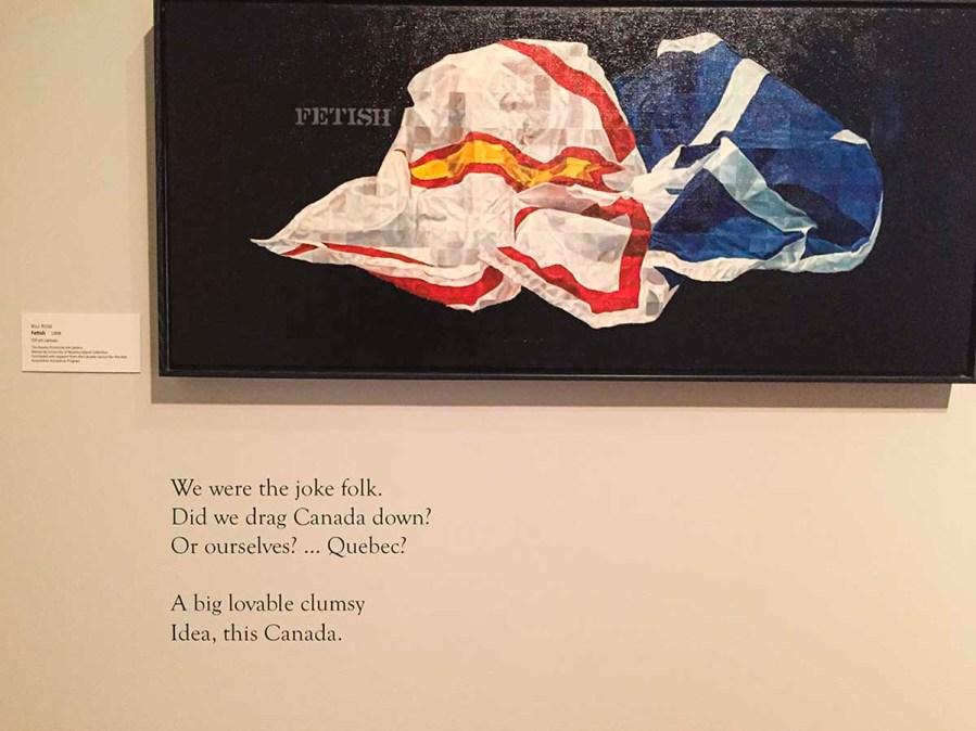 Fetish - Oeuvre de Bill Rose 1998, huile sur toile - The Rooms - galerie d'art