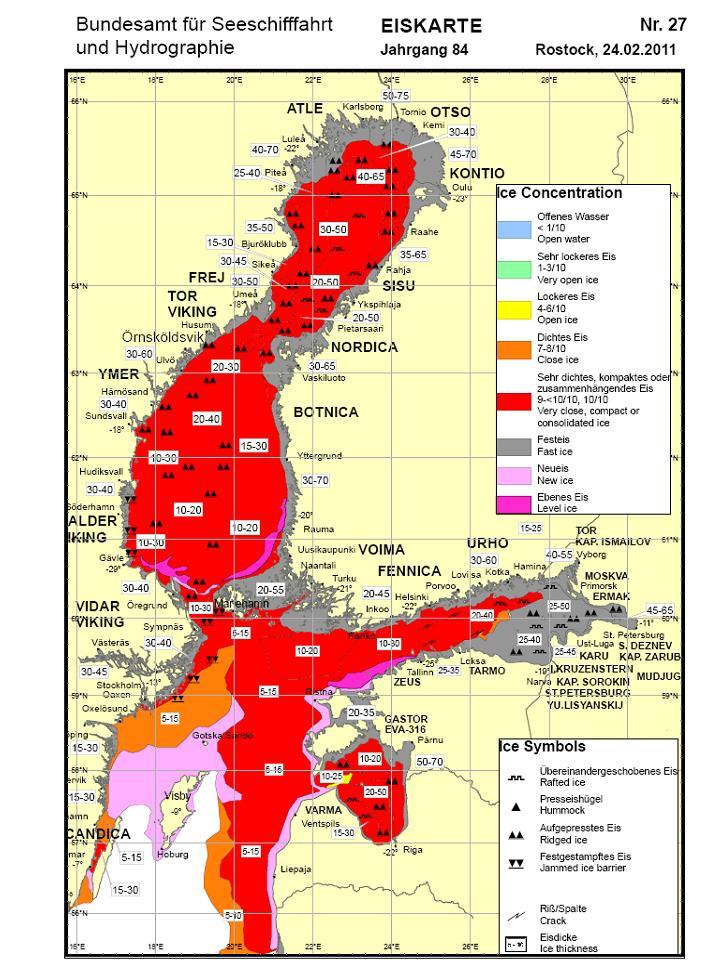 Die Ostsee zu zwei Drittel zugefroren