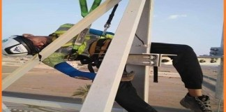 A worker was working on a mobile tower in Tabook a city of Saudi Arabia. While working on height, he became unconscious and fell.