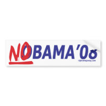 NObama '08 Bumper Sticker bumper stickers