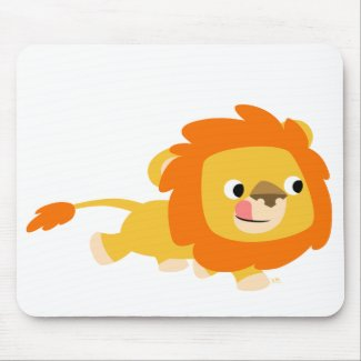 Opportunistic Cartoon Lion mousepad mousepad