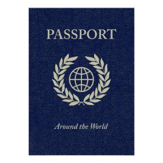 auf der ganzen Welt: Pass Einladungskarte