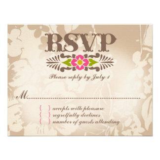 MAUI-UAWG tropisches Blumenleinenpapier Individuelle Einladungen