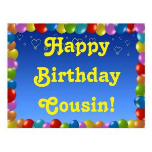 Alles Gute Zum Geburtstag Cousin Kuchen Und Kerzen Von