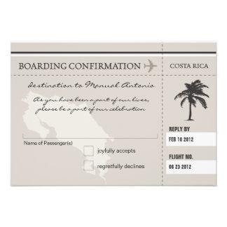 UAWG Boarding-Durchlauf NACH COSTA RICA Einladungskarte