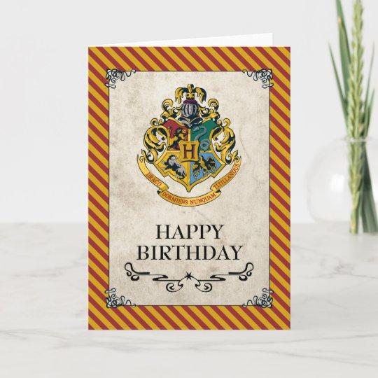 carte harry potter joyeux anniversaire de hogwarts