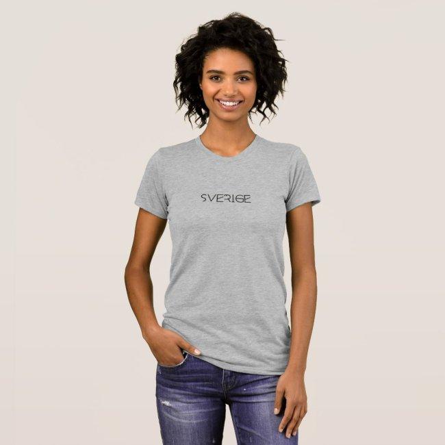 T-Shirt grijs met opdruk 'Sverige'