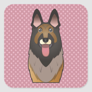 Belgian Tervuren Illustration Stickers Belgian Tervuren