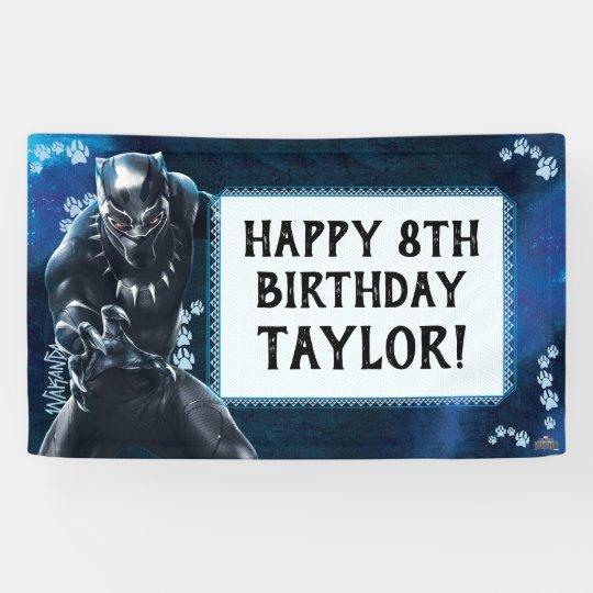 Black Panther Birthday Banner Zazzle Ca